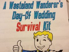 Ce kit sur le thème de Fallout jour du mariage de survie pour votre gamer connaisseur partenaire | Bride Offbeat
