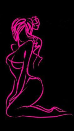 Meet your Posher, Gia Harley Davidson Decals, Pinstripe Art, Pinstriping Designs, Silhouette Clip Art, Pink Love, Hot Pink, Female Art, Female Drawing, Erotic Art