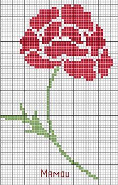 free rose cross-stitch pattern