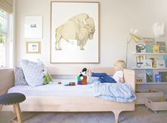 My guy in his very own space. Photography by @candicebrookephoto by nicoledavisinteriors