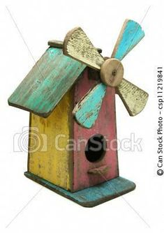 Colorful Windmill Bird House #birdhouseideas #birdhousekits