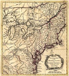 Map of the Colonies (notice all the Native American Tribe info)
