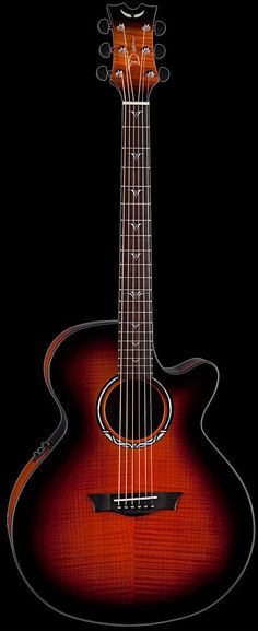 Dean Performer Ultra Flame Maple Tiger Eye Acoustic Electric Guitar