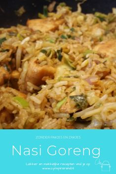 Nasi Goreng, Healthy Snacks, Healthy Recipes, Snack Recipes, Cooking Recipes, Good Food, Yummy Food, Indonesian Food, Easy Cooking