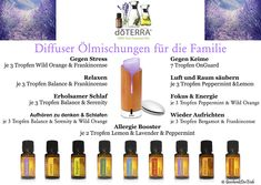 Oil mixtures for the diffuser Diy For Teens, Diy For Kids, How To Make Shampoo, Doterra Diffuser, Bloating Remedies, Mascara, Doterra Essential Oils, Diffuser Blends, Home Made Soap