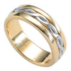 18ct Entwined Lives Inlaid Wedding Band