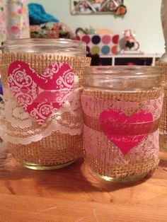 Valentine's Candle Jars