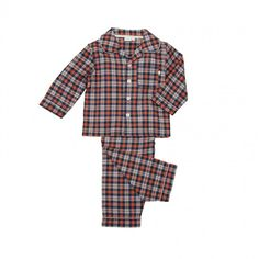 Kids traditional check pjs