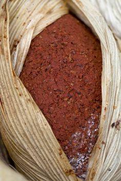 image Red colorant achiote, Bixa orellana from Indigo Arte y Textiles at Antigua Guatemala, Guatemala