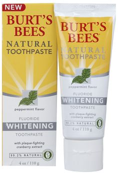 *Great Stuff!*  Enough natural whitening power to brighten teeth in just two weeks.  Clinically proven to prevents cavities, whiten teeth, reduce plaque, and freshen breath.  Made with real cranberry which helps to inhibit certain plaque-causing bacteria from adhering to teeth and gums. SLS-free formula contains calcium and phosphorous to promote strong, healthy teeth. No artificial colors, flavors, preservatives or sweeteners.