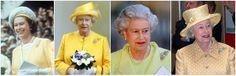 The Queen wearing the Australian Wattle Brooch