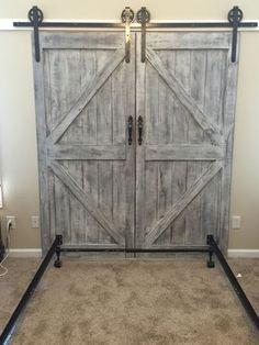 Cheaper and Better: DIY Barn Door Headboard and Faux Barn Door Track Hardware
