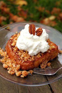 Food Porn — Cinnamon Apple Struesel French Toast.
