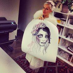 Miomo with a print of Fiona! #rebeccafiona #illustration #photoshop