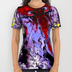 Blue Marble All Over Print Shirt by Alan Hogan | Society6 #marbling #blue #marble #psychadelic #liquid #painting #nagohnala #effect #girlsfashion #tshirts #tees #shareyoursociety6