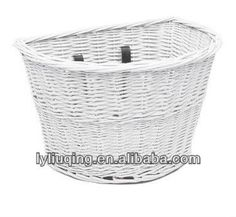 white color Electra Wicker Bicycle bike basket Smart Solution New Fast Shipping wicker bicycle baskets $4~$5