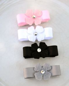Baby HairClips Felt Flower Hair Clips Infant by fairypatchboutique