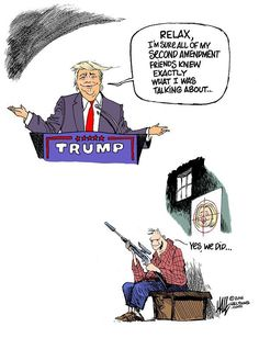 Cartoon by Ed Hall - Inciting