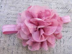 Infant Hairband, Flower Hairband, Baby Girl Hairband, Hairband for Baby, Photo Shoot Prop by OurKraftyCreations on Etsy