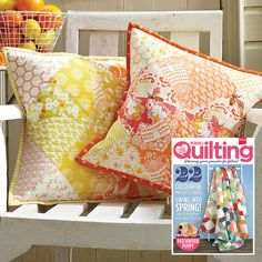 My Sunny pair of cusions in Issue 8 of LP&Q!! by maureencracknell, via Flickr