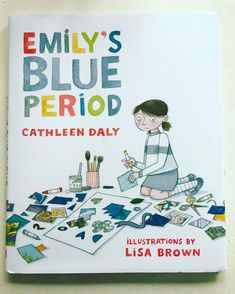 """We love discovering """"new"""" #childrensbooks! Emily's Blue Period is a great #art #book that teaches kids about #pablopicasso, #cubism, #collage and #emotion. #storybooks #picturebooks #picasso #artbook #childrensbook #artclass #artteacher #artteachersofinst"""