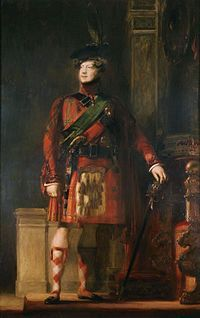 IV of the United Kingdom Sir David Wilkie's flattering portrait,King George IV in kilt during the visit to Scotland in King wore the Royal Stewart tartan, flesh-colored hose and the green sash of the Order of the Collection. Charles James, David Wilkie, King George Iv, Royal Collection Trust, Men In Kilts, Royal Fashion, Scottish Fashion, Scottish Dress, Poster Prints