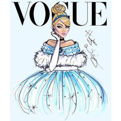 Capas de Vogue com as Princesas Disney ❤ liked on Polyvore featuring disney