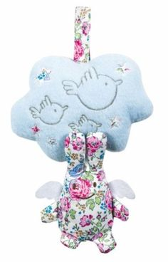 Peluche Musicale Ange Lapin Nuage Liberty