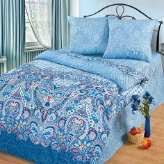 Купить постельное белье с компаньоном Индиго -- АртПостель онлайн