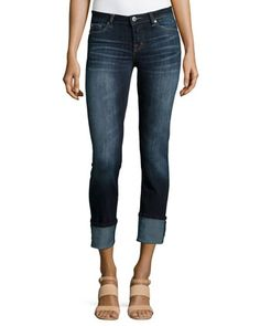 Cuffed Straight-Leg Jeans, Heritage Blue by Dex at Neiman Marcus Last Call.