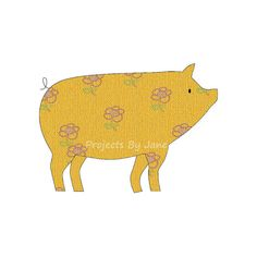 Pig applique template | PDF applique pattern | applique template