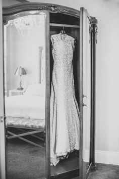 Wedding Gown by Ulla Maija | See the full wedding on Style Me Pretty: http://www.stylemepretty.com/2013/11/27/smog-shoppe-wedding-from-sitting-in-a-tree-events | Photography: rad and in love