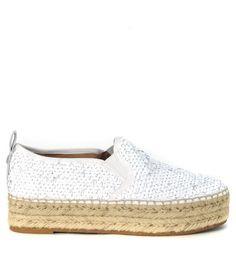 SAM EDELMAN Slip-On Espadrillas Sam Edelman Carrin Paillettes Bianca E Argento. #samedelman #shoes #slip-espadrillas-sam-edelman-carrin-paillettes-bia