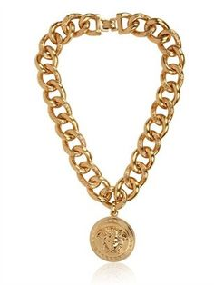 Versace Medusa Gold Plated Metal Necklace