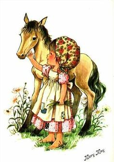 Qui était Mary May ? Mary May, Sarah Key, Holly Hobbie, Horse Art, Art Plastique, Cute Dolls, Cute Illustration, Fabric Painting, Illustrations