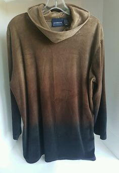 Women's Liz Claiborne Velvet Cotton Turtleneck Long Sleeve Brown Sweater Large L | Clothing, Shoes & Accessories, Women's Clothing, Sweaters | eBay!