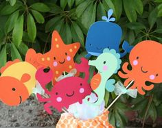 Large Mermaid Party Center Piece or Table by PaperPartyParade