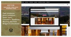 """Keter¨CWP Theme for Small Hotels, Guesthouses, Rooms for Rent and B&B by virtuti Overview""""Keter Guesthouse"""" is a lovely, very simple in use and useful WordPress theme created especially for small hotels, guesth"""