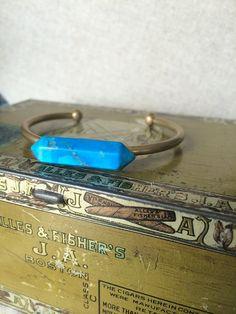 Foundry Pond Howlite Cuff by adjewelry on Etsy