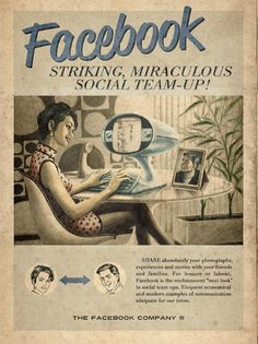 Retro közösségi média plakátok - AKKOR