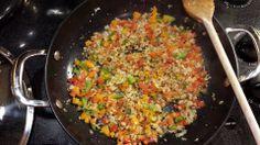 """Riced"" Cauliflower and Garden Veggie Stir-fry.  #easy #vegetarian #vegan #yummy"