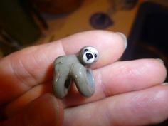 Dread Bead, Sloth dread bead, 4,5 or 6mm hole, glass dread bead, dreadlock…