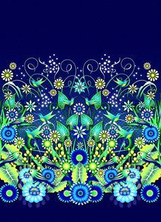 Blue Garden by Catalina Estrada | DecalGirl