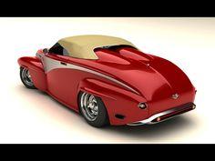 1956 Volvo Custom by Vizualtech - Red Rear Angle