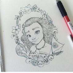 Love @jammyjimjams  artworks  Tag a friend who loves Moana ❤️ #disneyarts