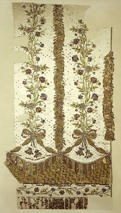 Fragment of Marie Antoinette's court dress' petticoat: 1780 Museum of London