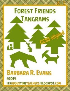 Mind-bending fun in forest animal tangram puzzles.  Great for enrichment, centers, and/or fast finishers.  $