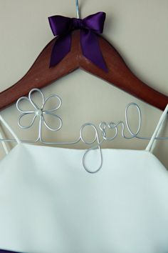 Flower Girl Hanger For Wedding Shower Gift by EricaMayMade on Etsy, $22.00