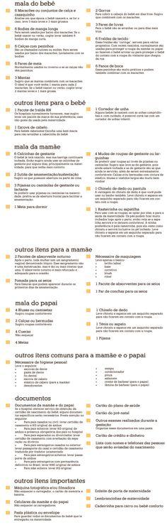 Checklist | Mala da maternidade | 4 MAMMIES