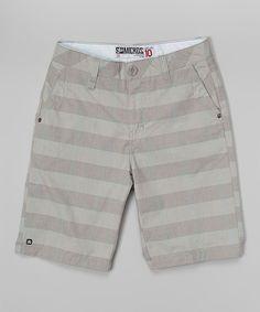 Silver Plaid Shorts - Boys